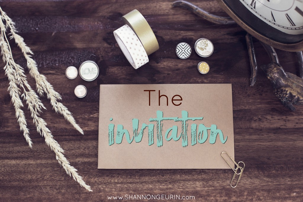 The Invitation. Jesus is asking, but will we go?