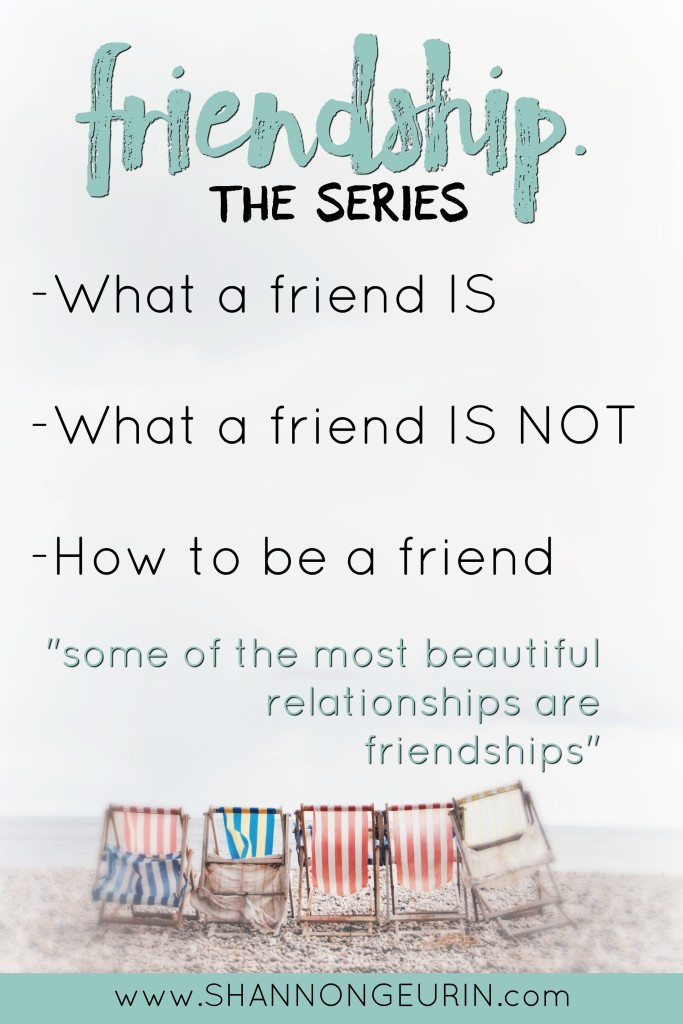What is TRUE friendship? What is it and what is it not? How can you be a good friend. Join me as I explore the qualities of a true friend.