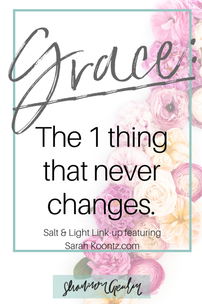 Grace never changes. It's the one thing that never changes in our lives. #grace #change